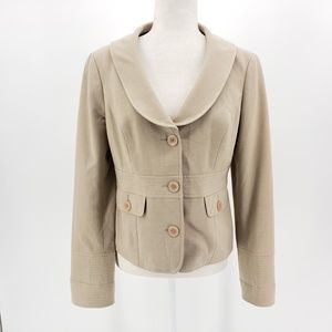 Mac & Jac tan blazer jacket women's size 8